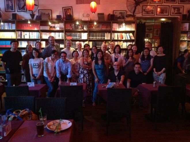 """Team Photo"" from the Beijing Birders' Meet-up at The Bookworm on Friday 3 July 2015."