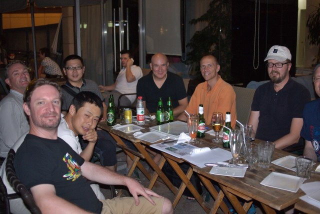 From left to right: Andrew Morrissey (South Africa), Zhu Lei (China), Chen Liang (China), Steve Bale (UK), Per Alstrom (Sweden), Jan-Erik Nilsen.