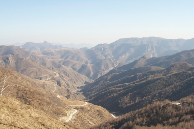 The view from the top of Lingshan looking north.