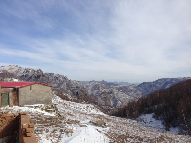 Another view from Lingshan.  With a dusting of snow the mountains in Beijing are stunning