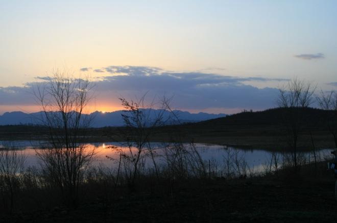 Sunset at Miyun.  Stunning.