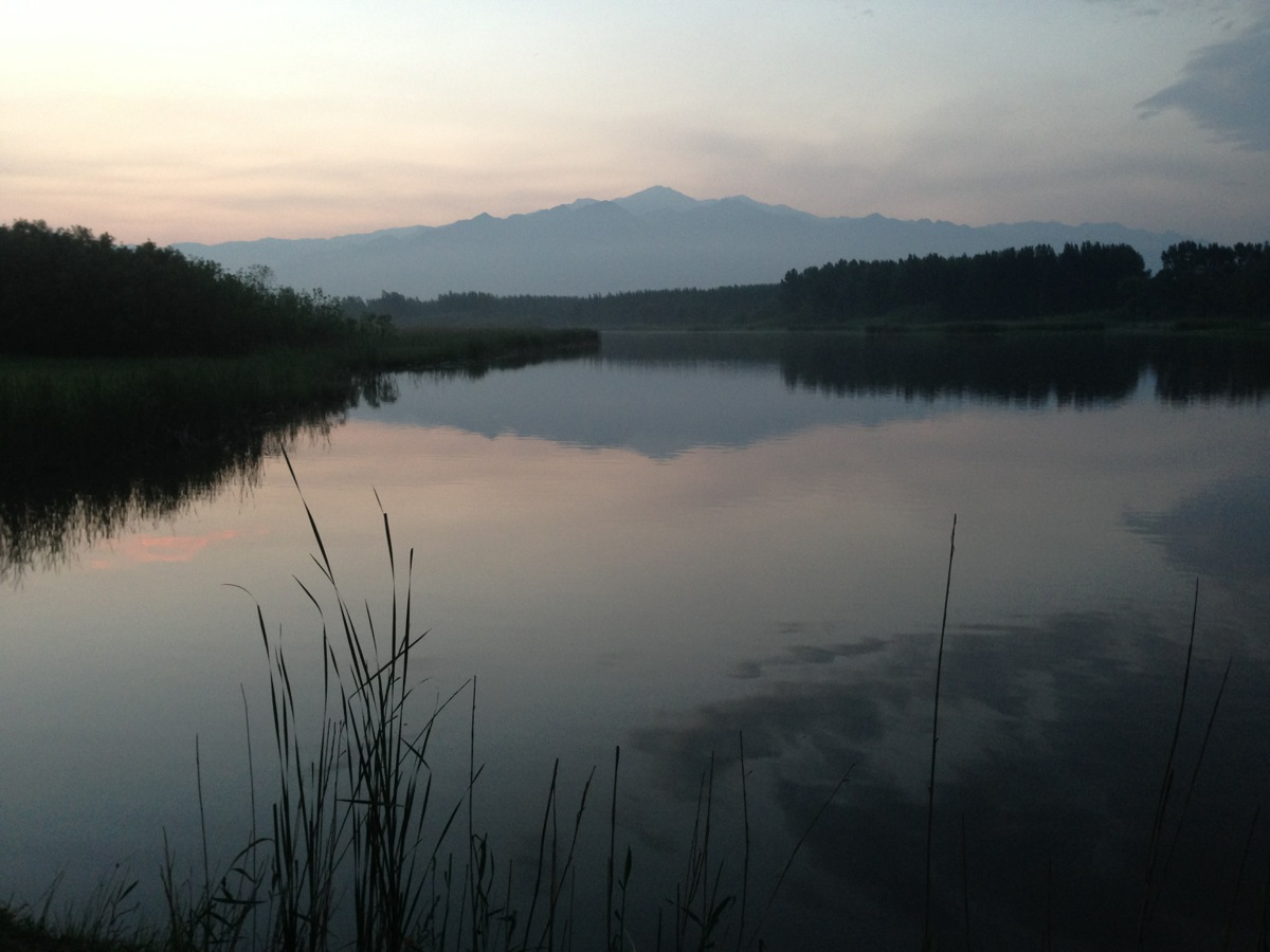 A beautiful evening in Yanqing...