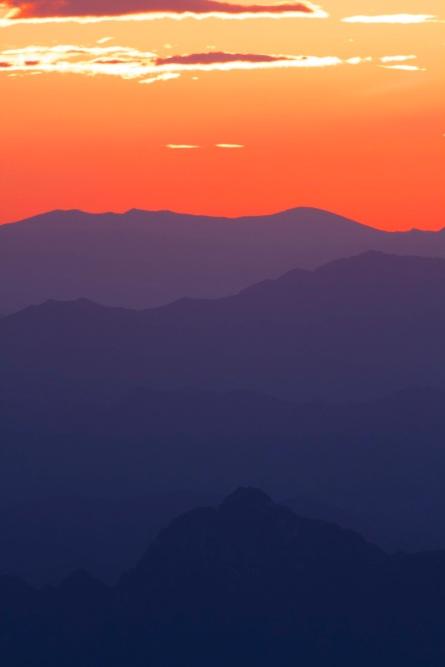 Sunset at Wulingshan, Saturday 12 July 2014.