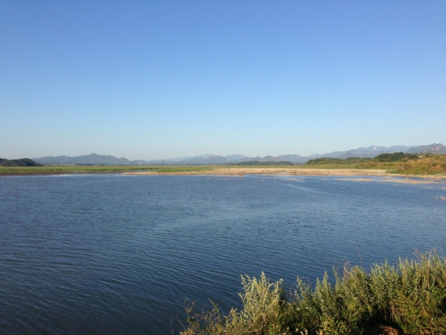 Miyun Reservoir is simply stunning on a clear, blue-sky day...
