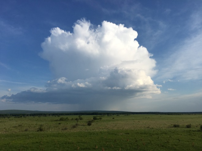 2018-06-19 Clouds over Inner Mongolia meadow