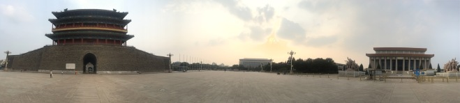 2018-07-03 Zhengyangmen gate at Tiananmen Square panorama