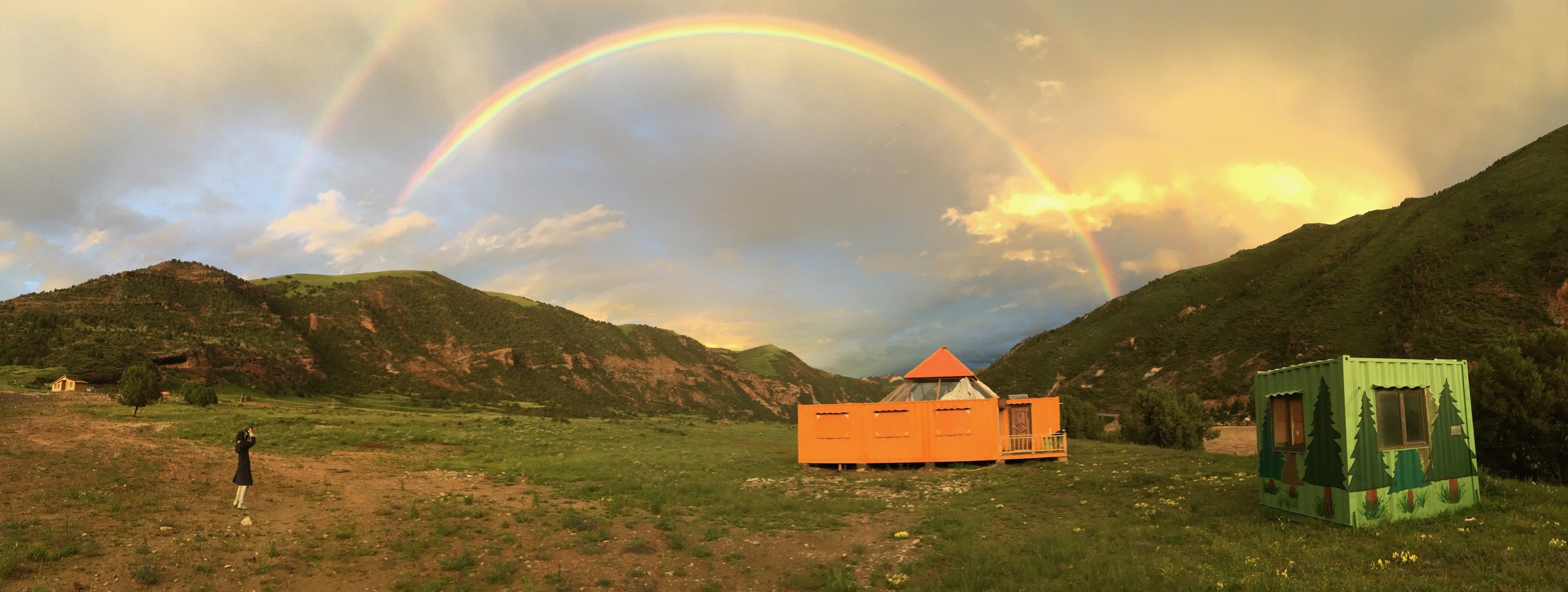 2018-07-19 rainbow over ShanShui workstation, Angsai
